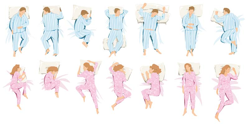 Pillow types for specific sleep positions