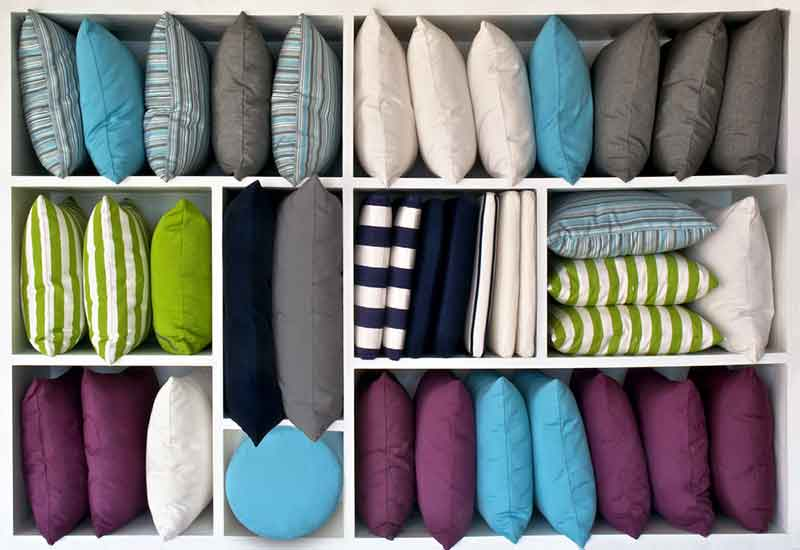 Pillows different shapes and sizes