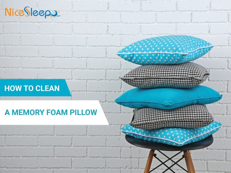 how to clean a memory foam pillow the ultimate guide. Black Bedroom Furniture Sets. Home Design Ideas